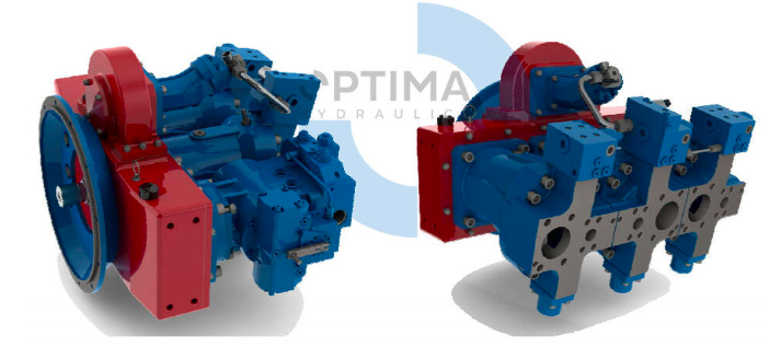 Axial piston variable double pump